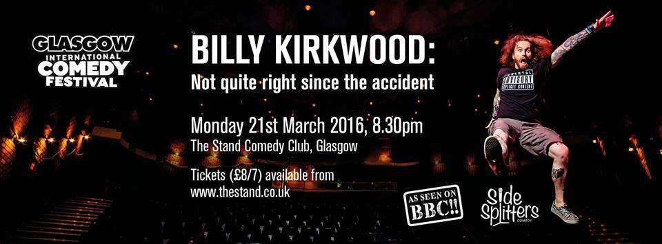 Billy Kirkwood Social Media Banner for GICF Show, Design by Circa78 Creative