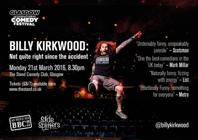 Billy Kirkwood Poster Designed by Circa78 Creative