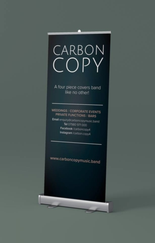 Chosen Roller Banner for Carbon Copy Wedding Band, Designed and Supplied by Circa78 Creative