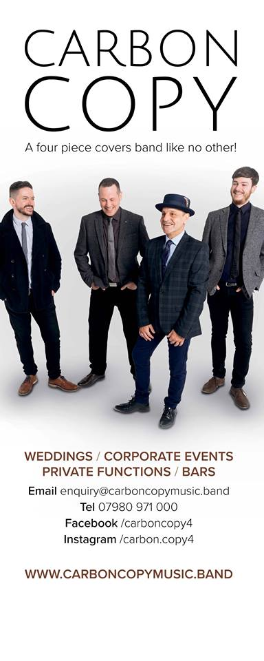 Roller Banner for Carbon Copy Wedding Band, Designed and Supplied by Circa78 Creative