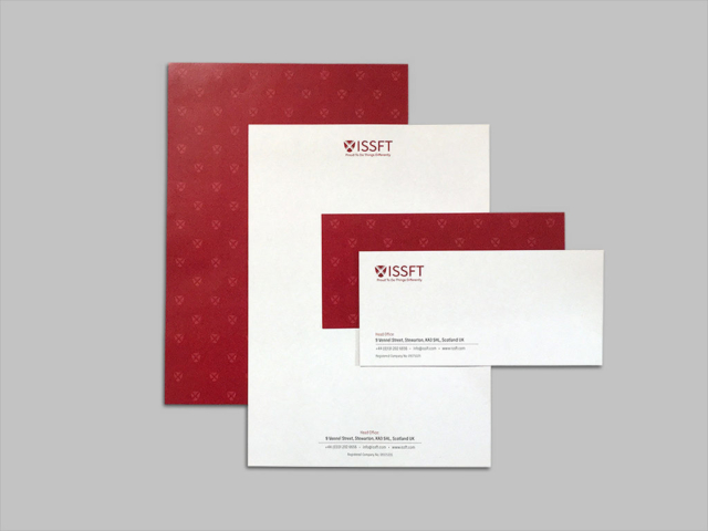 ISSFT letterhead and with comps slip design