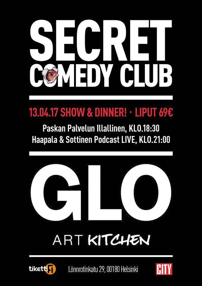 Secret Comedy (Finland) Poster, Designed by Circa78 Creative