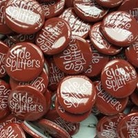 Sidesplitters Badges Designed by Circa78 Creative (Photo by Wee Badgers)