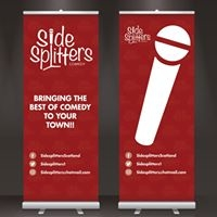 Sidesplitters Roller Banners, Designed by Circa78 Creative