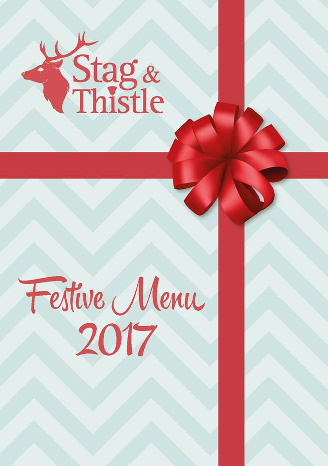 Stag and Thistle Xmas Menu Page 1