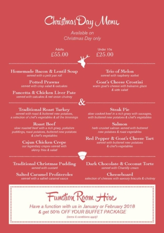 Stag and Thistle Xmas Menu Page 4