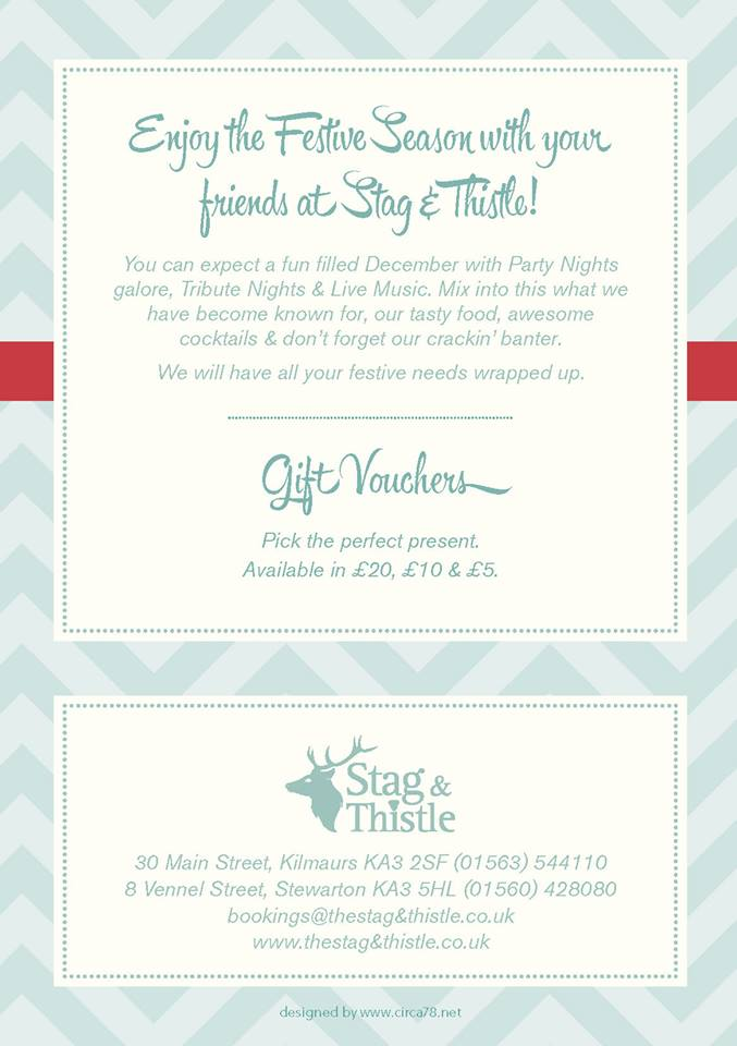 Stag and Thistle Xmas Menu Page 6