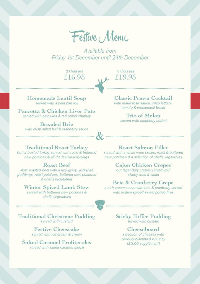Stag and Thistle Xmas Menu Page 5