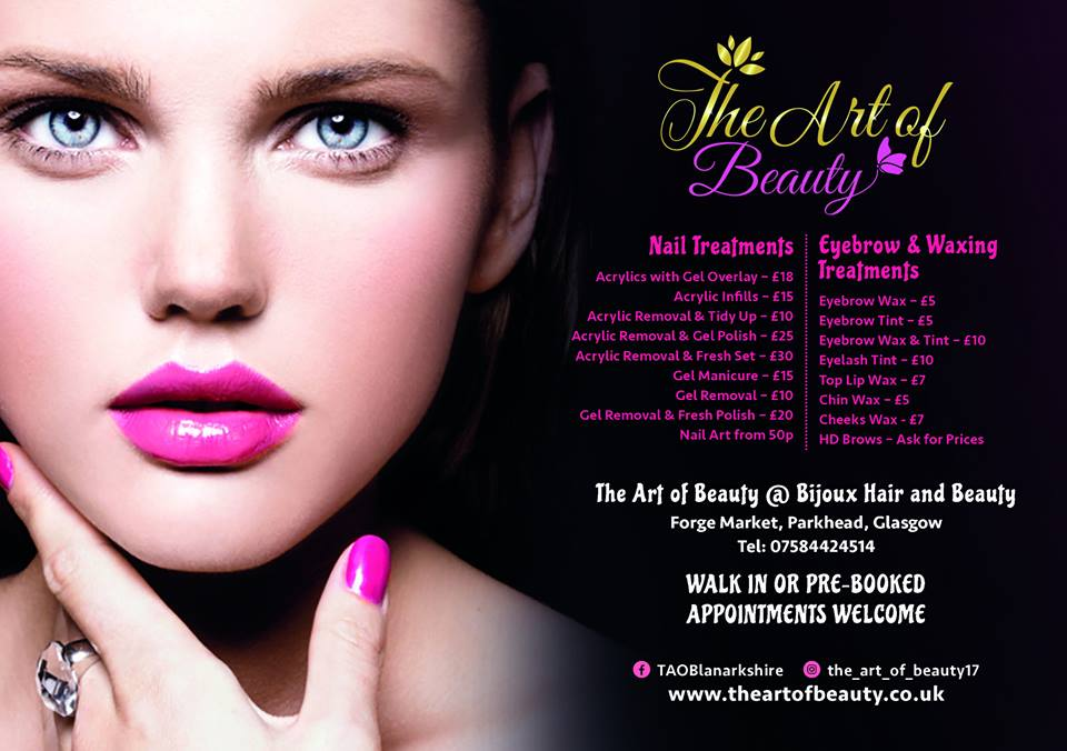 Beautician Price-list Designed by Circa78 Creative, Art-directed by Client