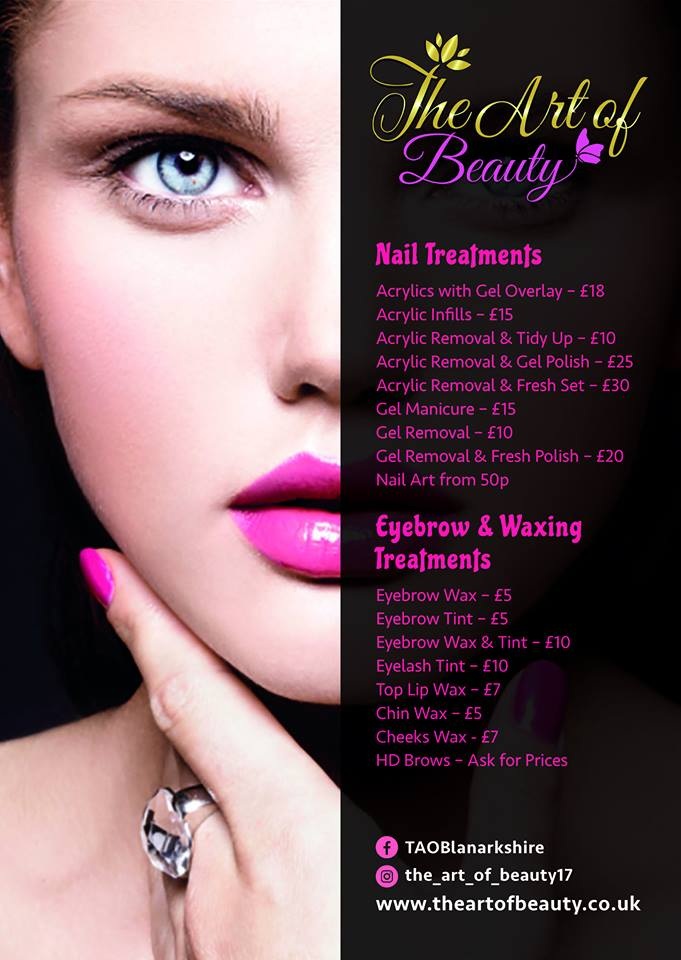 Beautician Flyer Designed by Circa78 Creative, Art-directed by Client